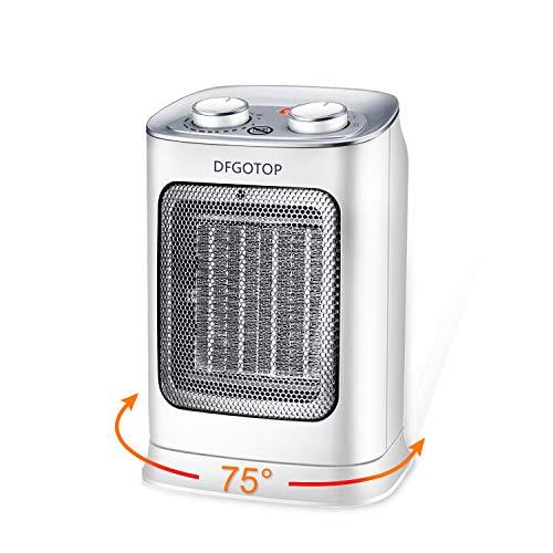 DFGOTOP Mini Calefactor Eléctrico Cerámico Baño, Calefacción Eléctrica Silenciosa Bajo Consumo,...