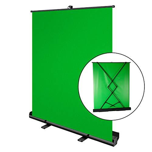 Pantalla Croma Verde, Portatil de 180 x 148cm, Luxscreen Chromakey Plegable para Eliminación del...