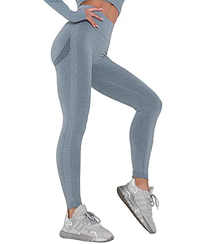 COMFREE Leggings de Yoga para Mujer, Cintura Alta, Pantalones de Yoga, Levantamiento de Cadera, sin...