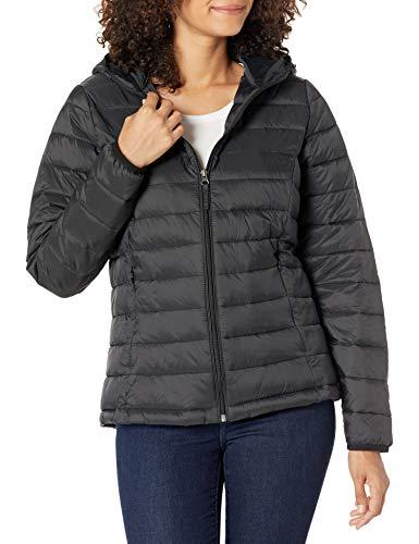 Amazon Essentials - Chaqueta acolchada con capucha para mujer, plegable, ligera y resistente al...