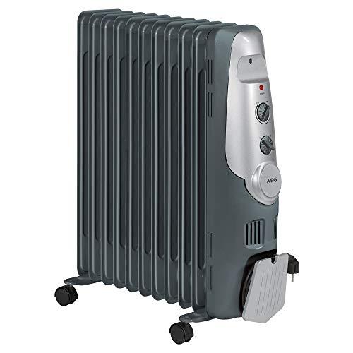 AEG RA 5522 - Radiador de aceite, 2200 W, 11 elementos, termostato, 3 niveles de potencia, regulador...
