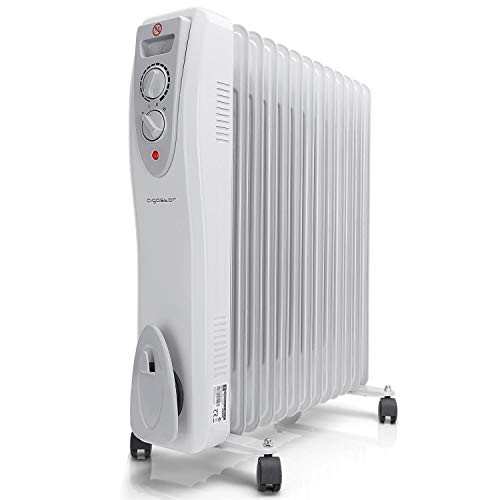 Aigostar Warm Snow – Radiador de aceite portátil de 13 elementos, 3000 Watios, dispone de 3...