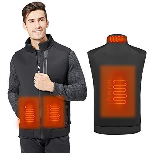 MVPower Chaleco Térmico Electrico para Hombre y Mujer, Chaleco Calefactable de Carga Usb para...