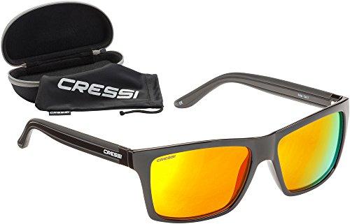 Cressi Rio Sunglasses Gafas de Sol Deportivo Polarizados, Unisex Adultos, Negro/Amarillo, Talla...