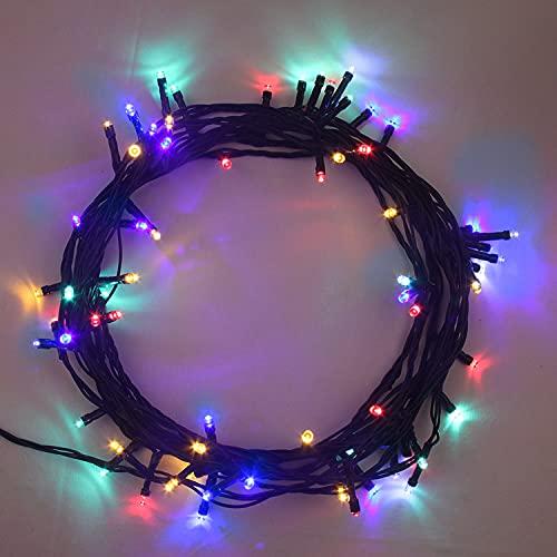 ANSIO Cadena Luces de Navidad 100 LED Multicolor Interior/Exterior Luces de árbol luces de hadas...