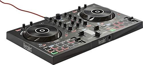 Hercules DJControl Inpulse 300 - Controlador DJ USB, 2Pistas con 16Pads y Tarjeta de Sonido,...