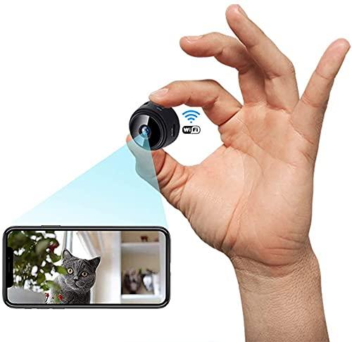 Mini Camara,1080P HD Micro Camara Vigilancia Grabadora de Video Portátil con IR Visión Nocturna...