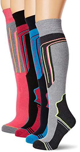 FM London Thermal Ski Socks Multipack Calcetines altos, Multicolor (Assorted), Talla única (Pack de...