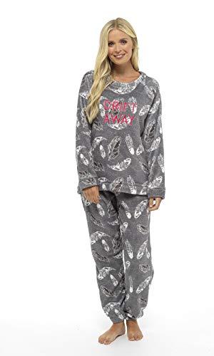 Pijama Mujer Invierno Suave Cómodo con Plumas Prosecco Estrellas Vario Estilos Pijamas Invernal...