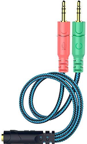 Kit Adaptador de Cable Jack de 3,5 mm, convertidores mutuos para Auriculares de PC con función de...