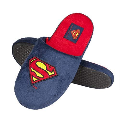 soxo Superman Zapatillas de Casa para Hombre | Talla 45-46 | Cómodas Babuchas Afelpadas | Suela...