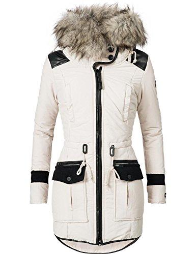 Khujo YM-Retro Bugs - Abrigo de invierno para mujer, 4 colores, S-XXL Moonbeam S