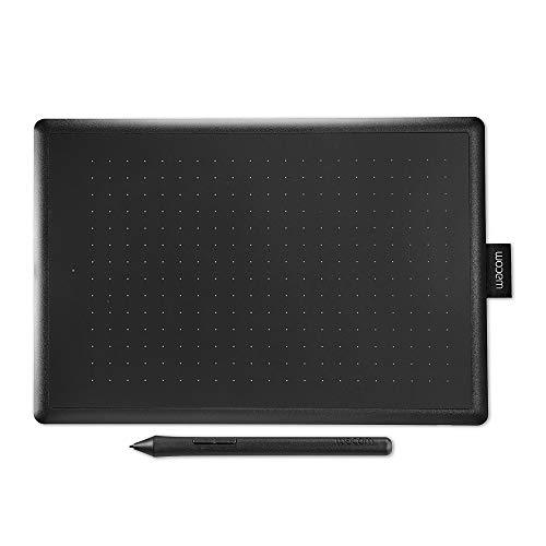 Wacom One by Wacom Medium - Tableta gráfica con lápiz digital sensible a la presión, compatible...
