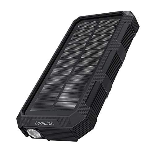 LogiLink PA0250 – Cargador de batería Solar con batería de polímero de Litio de 24000 mAh para...