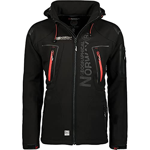 Geographical Norway - Chaqueta cortavientos para hombre, modelo: Techno, chaqueta de entretiempo con...