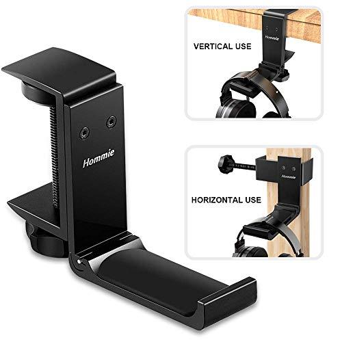 Soporte Auriculares de Metal Silicona, Hommie Soporte Cascos con Organizar de Cable para Bose...