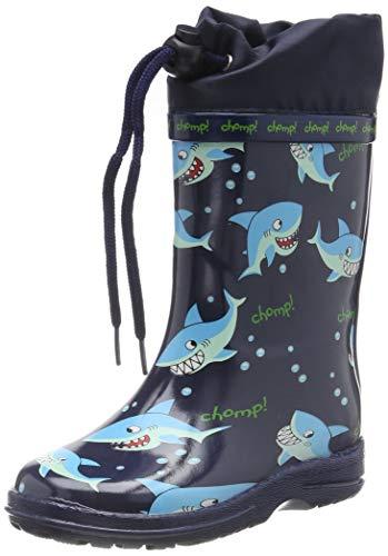 Beck Sharks, Botas de Agua Niños, Azul (Dunkelblau 05), 21 EU