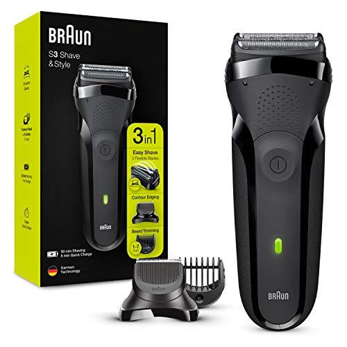 Braun Series 3 Shave&Style 300BT, Afeitadora Eléctrica 3 en 1, Máquina de Afeitar Para Hombre Con...