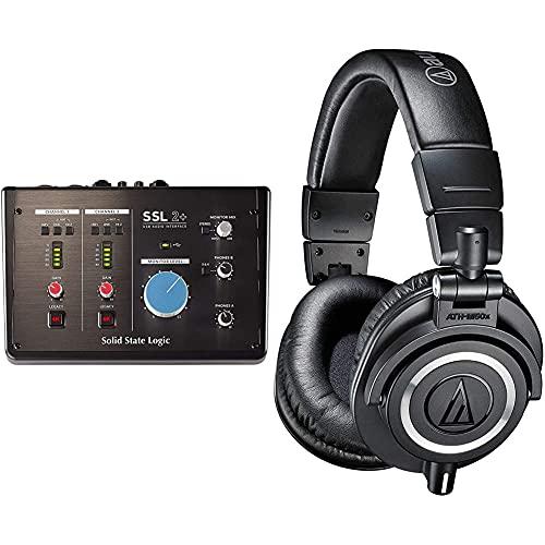 Solid State Logic Ssl2 + Audio Interface + Audio-Technica Audio-Técnica Ath-M50X Auriculares Para...