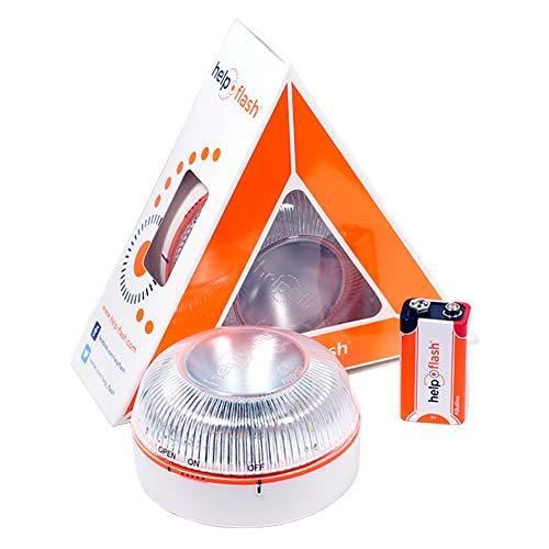 HELP FLASH HFAA-01 Estandar Luz de Emergencia Autónoma Señal V16 de Preseñalización de Peligro,...