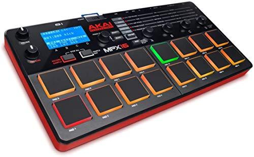 AKAI Professional MPX16 - Controlador USB MIDI y sampler portátil con 16 pads retro-iluminados y...