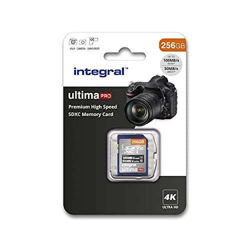 Integral - Tarjeta SD de 256 GB (4 K, Alta Velocidad, SDXC, hasta 100 MB/s, V30, UHS-I, U3) 256 GB....