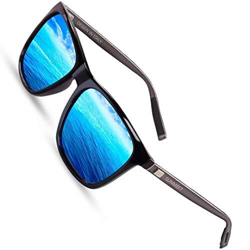 Sunmeet Gafas de sol Hombre Polarizadas Clásico Retro Gafas de sol para Hombre UV400 Protection...