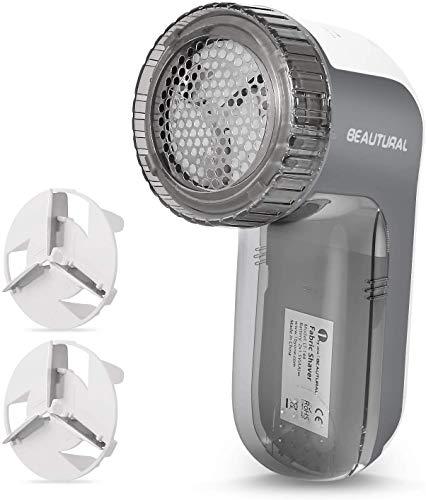 Beautural Quitapelusas eléctrico,9000R per Min, 3 Alturas de Afeitado,3 tamaños de Agujeros y 2...