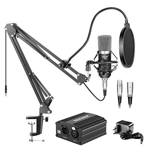 Neewer NW-700 Micrófono de Condensador & Soporte de Brazo de Tijera Brazo Boom con Cable XLR y...