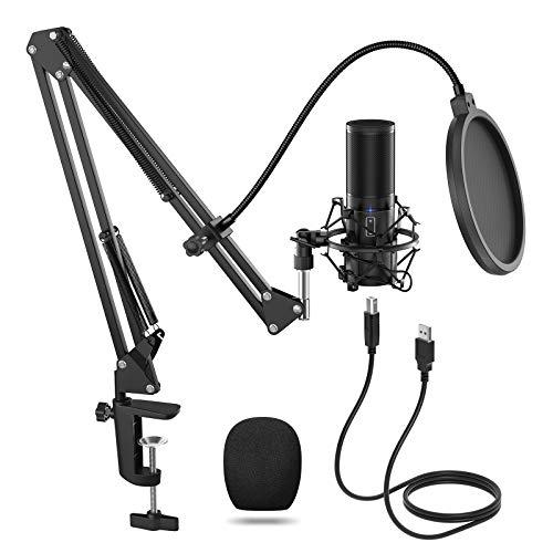 TONOR Micrófono de Condensador USB Micro Grabación Patrón Polar Cardioide para Grabar Música y...