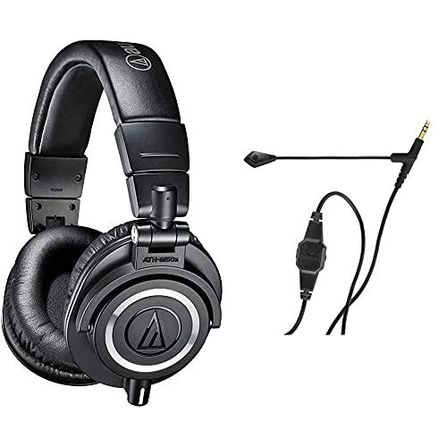 Audio-Technica Audio-Técnica Ath-M50X Auriculares para DJ, Color Negro + V-Moda Boompro Micrófono...