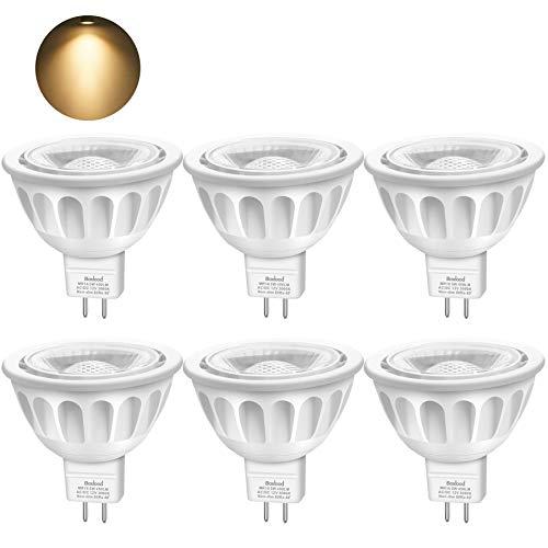 Bombillas LED GU5.3, Boxlood MR16 LED 5W Lámparas Halógenas Equivalentes a 50W, LED 12V MR16,...