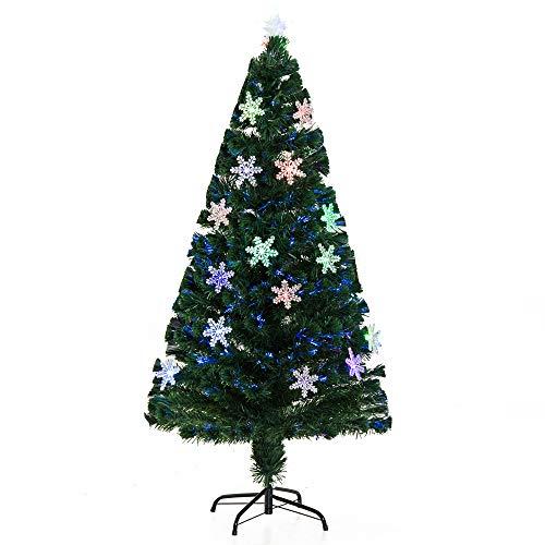 HOMCOM Árbol de Navidad Artificial Árboles de Abeto 150cm con Soporte Decoraciones Navideñas...