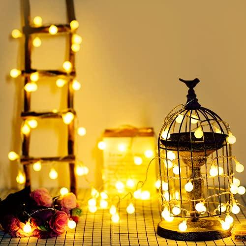 Guirnalda Luces, 5 metros con 40 bombillas, a prueba de agua, Bateria Cargada, luces decorativas de...