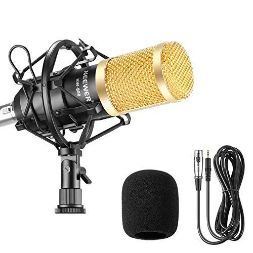 Neewer NW-800 Studio - Micrófono de Condensador Profesional y micrófono con absorción de...
