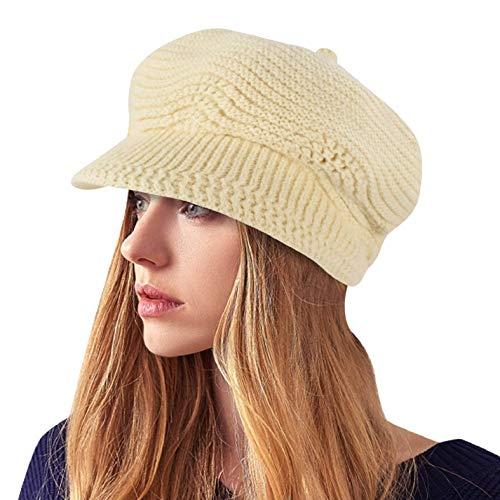 Yuson Girl Sombrero del cráneo de la Gorrita Tejida de Slouchy Cable Knit Beanie del Invierno de...