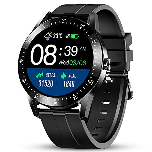 GOKOO Reloj Inteligente Hombres Smartwatch Monitor de Actividad con 24 Modos Deportivos Pulsómetro...