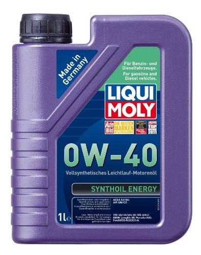 Liqui Moly 1360 Synthoil Energy 0W-40 - Aceite sintético antifricción para Motores de automóviles...