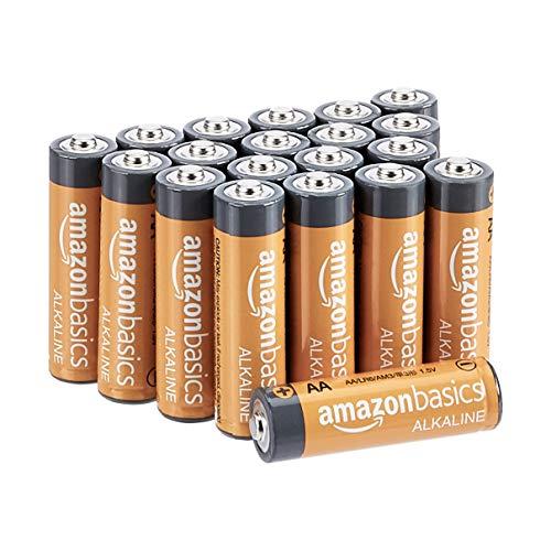 Amazon Basics - Pilas alcalinas AA de 1,5 voltios, gama Performance, paquete de 20 (el aspecto puede...