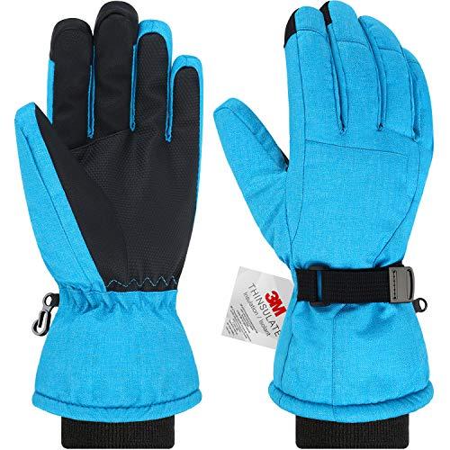 Andake Ski Gloves, Women 3M Thinsulate Touchscreen Warm Waterproof Windproof Guantes de Invierno...