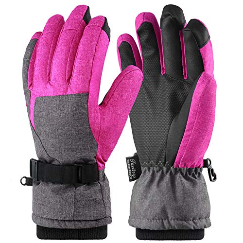 Andake Ski Gloves, Women 3M Thinsulate Touchscreen Warm Waterproof Windproof Guantes de Invierno...
