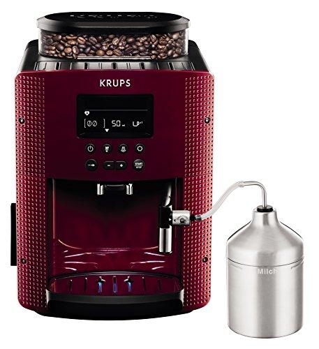 Krups Compact Cappucino EA8165 - Cafetera Superautomática 15 Bares, Pantalla LCD, 3 Niveles...