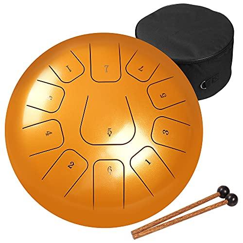 AMKOSKR Tambor de Lengua de Acero 12 Pulgadas 30cm 11 Notas C Chiave,Instrumento de Percusión...