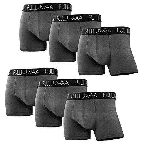 Fullluwaa Bóxer (Pack de 6) Hombre Algodón Calzoncillos-S