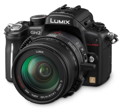 Panasonic DMC-GH2 - Cámara Réflex Digital 16.05 MP (Objetivo Lumix G Vario 4,0-5,8/14-140mm OIS)...