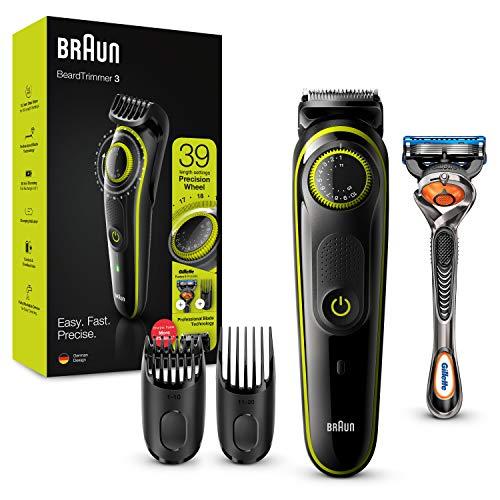 Braun Recortadora de Barba con Gillette Fusion 5 ProGlide Maquinilla de Afeitar Hombre, 2 Cabezales...