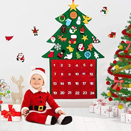 Wokkol Arbol de Navidad Fieltro, 3.3ft DIY Árbol de Navidad de Fieltro Arbol de Navidad en Fieltro...
