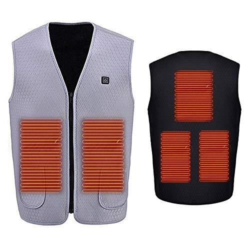 Chaleco con calefacción,chaqueta con calefacción eléctrica para hombres y mujeres,carga USB de...