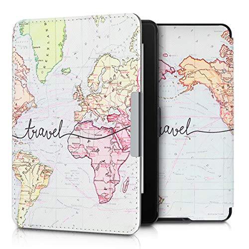 kwmobile Carcasa Compatible con Amazon Kindle Paperwhite - Funda para Libro electrónico con Solapa...