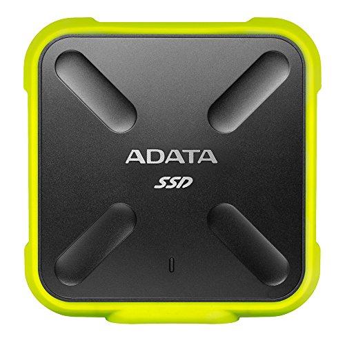 ADATA ASD700-256GU3-CYL- Disco duro externo SSD NAND 3D de 256GB (duradero, resistente al polvo, al...